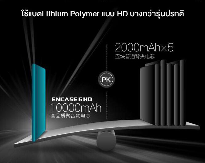 "Romoss เคสแบตสำรอง HD iPhone6Plus/6S Plus 5.5"" 10,000mah (สีดำ)"