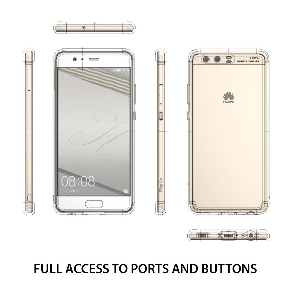 Ringke Fusion Huawei P10 เคสใสกันกระแทก ผ่านการทดสอบการกระแทกระดับ Military Grade ด้วยเทคโนโลยีกระจายแรงกระแทก (Crytral Clear)