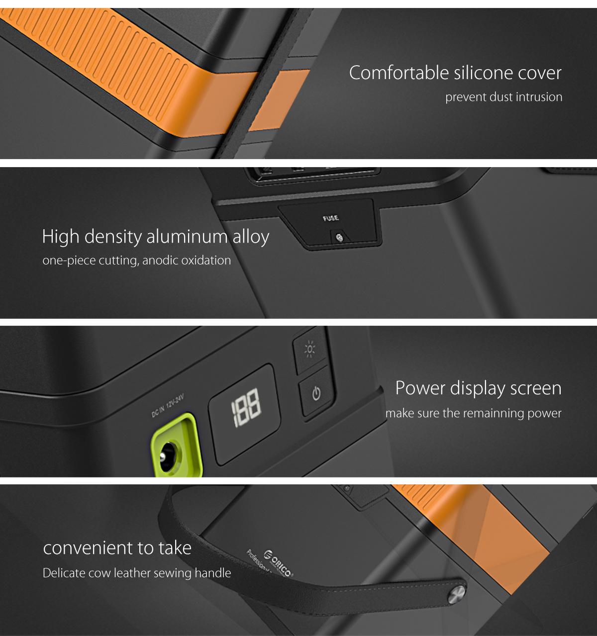 ORICO 100W 50,000mAh : 3 Charging System (AC 220V, DC, QC2.0) Powerbank ชาร์จไฟได้3ระบบ AC 220V, DC, USB QC2.0 พาวเวอร์แบงค์ขนาด 50000 mAh