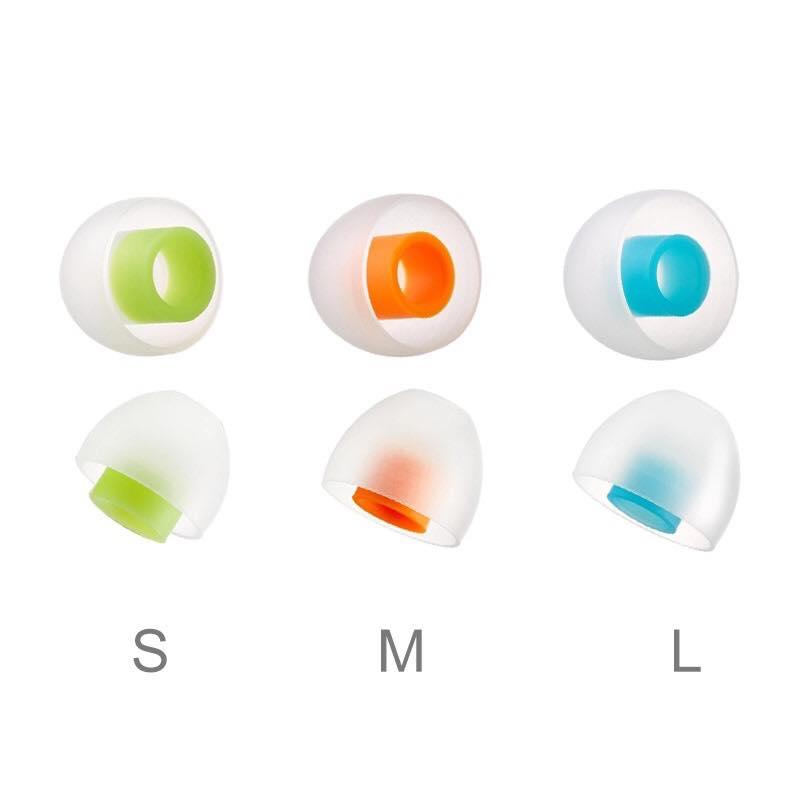 """(1คู่) SpinFit CP145 """"ใหม่ล่าสุด 2018"""" (สีขาว/เขียว Size S 11.5mm) จุกหูฟังอัพเกรด เสียงเบสแน่นขึ้น และเสียงแหลมดีขึ้น จุกหูฟังสำหรับหูฟังแบบสอดหู In Ear Monitor (IEM)"""