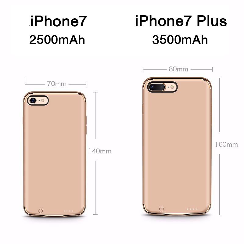 JOYROOM เคสแบตสำรอง iPhone7Plus 5.5′ ความจุสูง3500mAh แบบบางพิเศษ Ultrathin Built-in battery case สีดำ