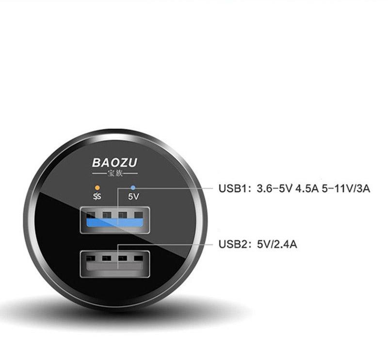 Baozu SuperCharge, VOOC, Dash, MTK PE, QC3.0 ที่สุดของที่ชาร์จมือถือในรถ ชาร์จครบเกือบทุกเทคโนโลยี