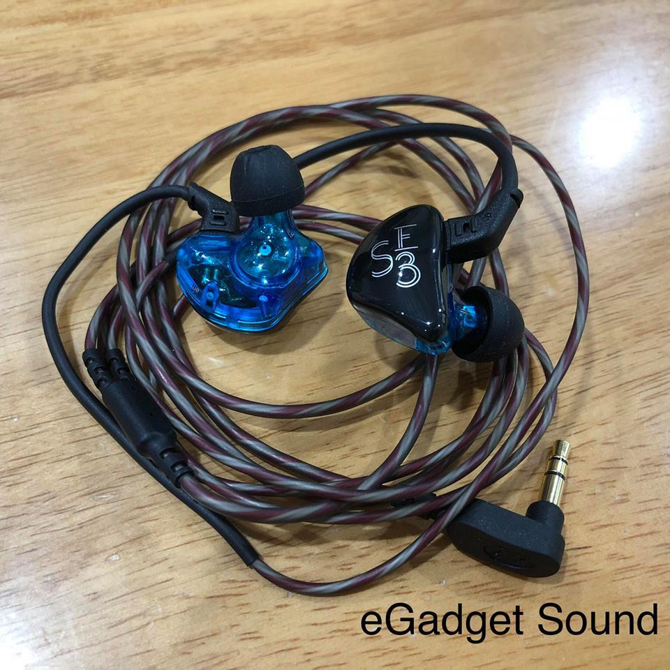 KZ ES3 หูฟัง สีม่วง (มีไมค์) hybrid driver 1DD+1BA เบสลึก ถอดสายได้ (Mic)