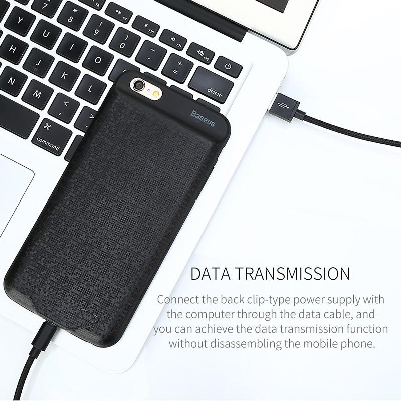 BASEUS เคสแบตสำรอง iPhone7/8 4.7' ความจุสูง5000mAh แบบบางพิเศษ Ultrathin สีดำ