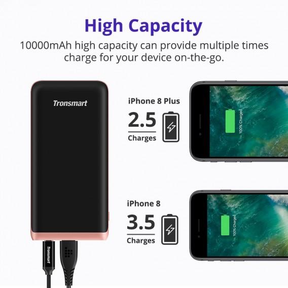 Tronsmart (18W) (USB-C PD3.0) (QC3.0) (FCP) Powerbank ชาร์จเร็วไอโฟน 8-XSMAX หัวเหว่ย ซัมซุง