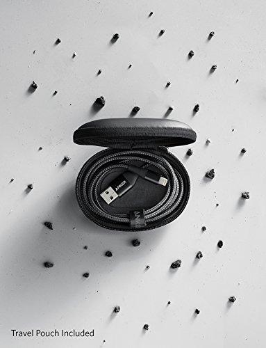 2018 Anker (180CM) PowerLine+ Gen2 สาย iPhone สายไนล่อนถัก2ชั้นผสมผ้าเคฟล่ากันกระสุน สีดำ