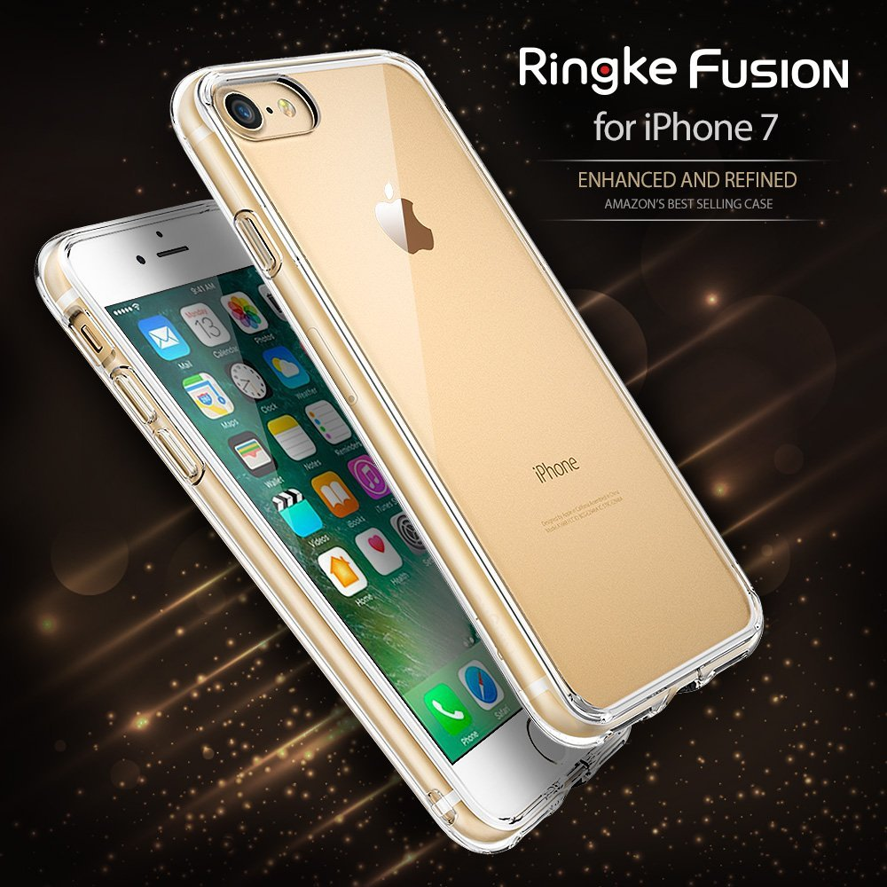 Ringke Fusion iPhone7 4.7' เคสใสกันกระแทก ผ่านการทดสอบการกระแทกระดับ Military Grade ด้วยเทคโนโลยีกระจายแรงกระแทก (สีใส)