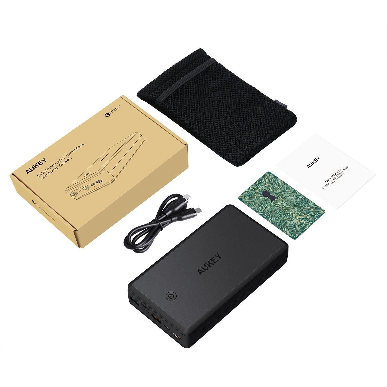 Aukey PowerTANK-PD 30W + QC3.0 30000 mAh PowerBank แบตสำรองมือถือพร้อมระบบ Power Delivery 30w QuickCharge 3.0 พาวเวอร์แบงค์ขนาด 30000 mAh