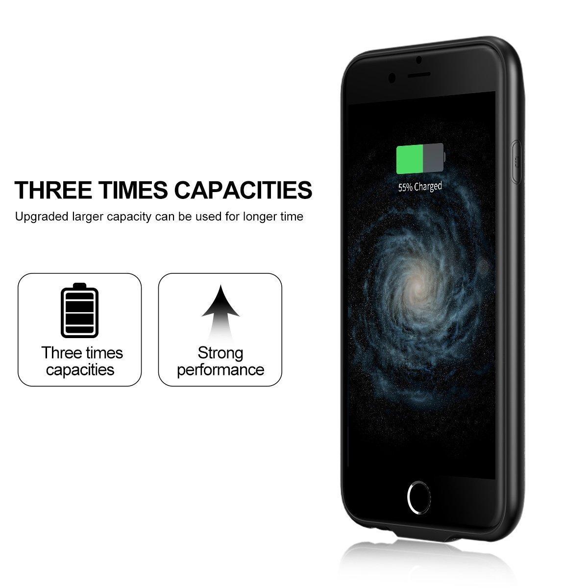 BASEUS เคสแบตสำรอง iPhone7Plus/8Plus 5.5' ความจุสูง7300mAh แบบบางพิเศษ Ultrathin สีดำ