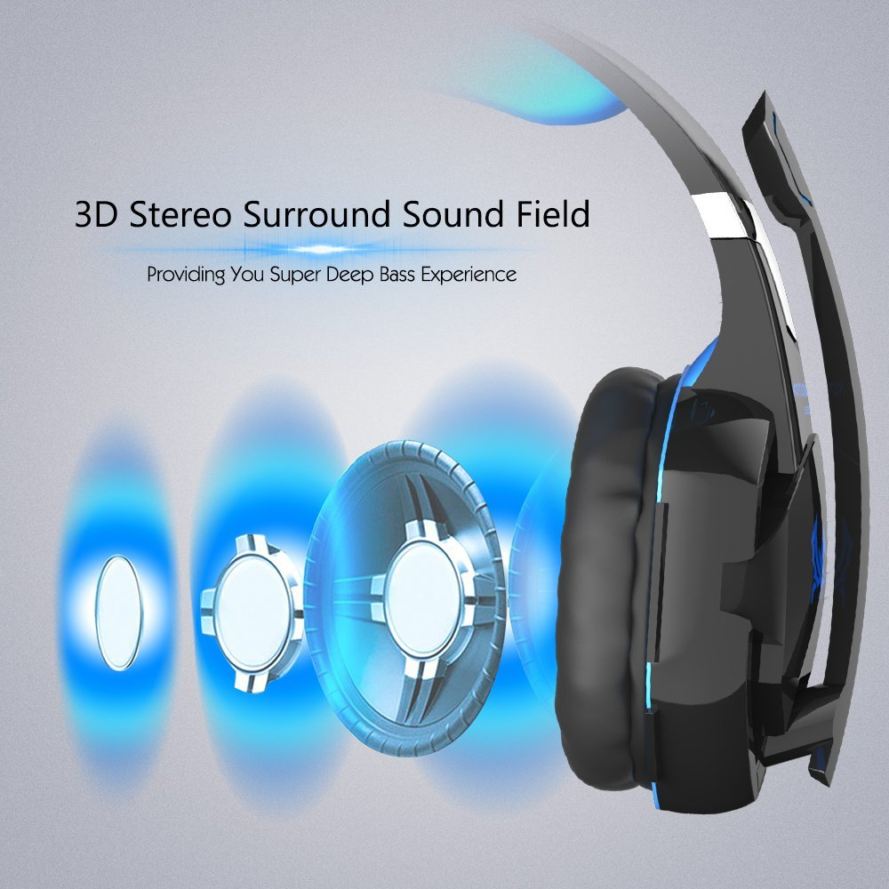 Kotion EACH หูฟังเกมมิ่ง สำหรับ PC (มีไมค์) รุ่น G2000 Kotion Each หูฟังสำหรับเกมเมอร์ เสียงsurround สีน้ำเงิน