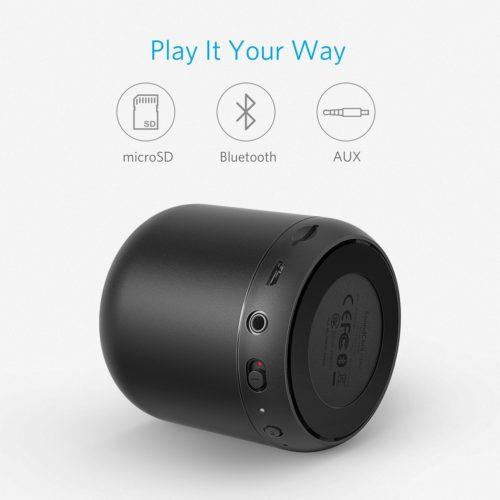 Anker SoundCore Mini (5W) ,ลำโพงบลูทูธแบบพกพาพร้อมแบตเตอรี่ที่ใช้นาน 15 ชั่วโมง,