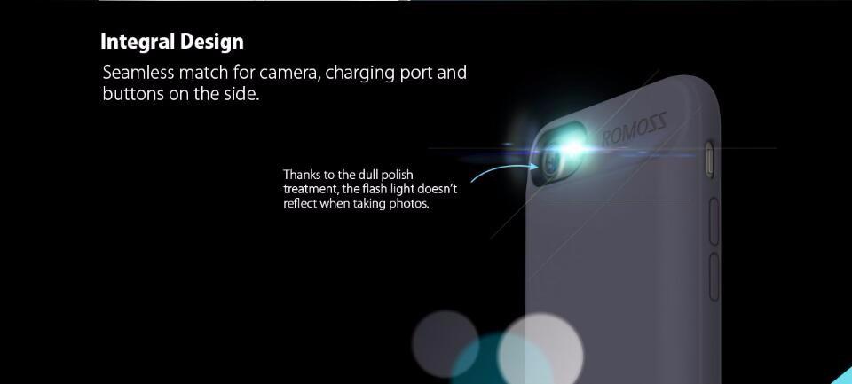 "Romoss เคสแบตสำรอง iPhone7 4.7"" บางพิเศษ 2800mah Battery enCase Power Case (สีดำ)"