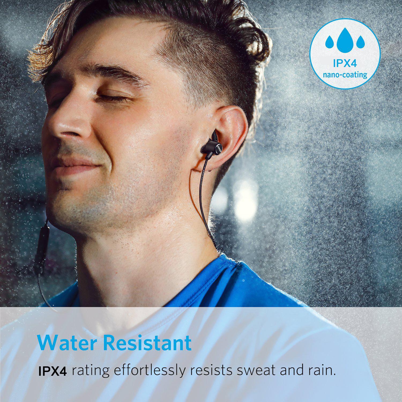หูฟังบลูทูธ Anker SoundBuds Slim หูฟังไร้สาย Bluetooth 4.1 กันเหงื่อ IPX4 เล่นได้ 7ชม Wireless Headphones, Lightweight Earbuds IPX4 Water Resistant Sport Headset with Mic