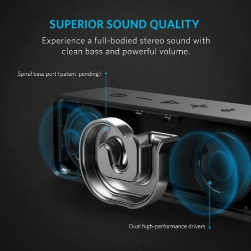 Anker SoundCore (6W) ลำโพง Bluetooth แบต4400mAhเล่นได้นานสุด24hr ลำโพงพกพา บลูทูธ4.0