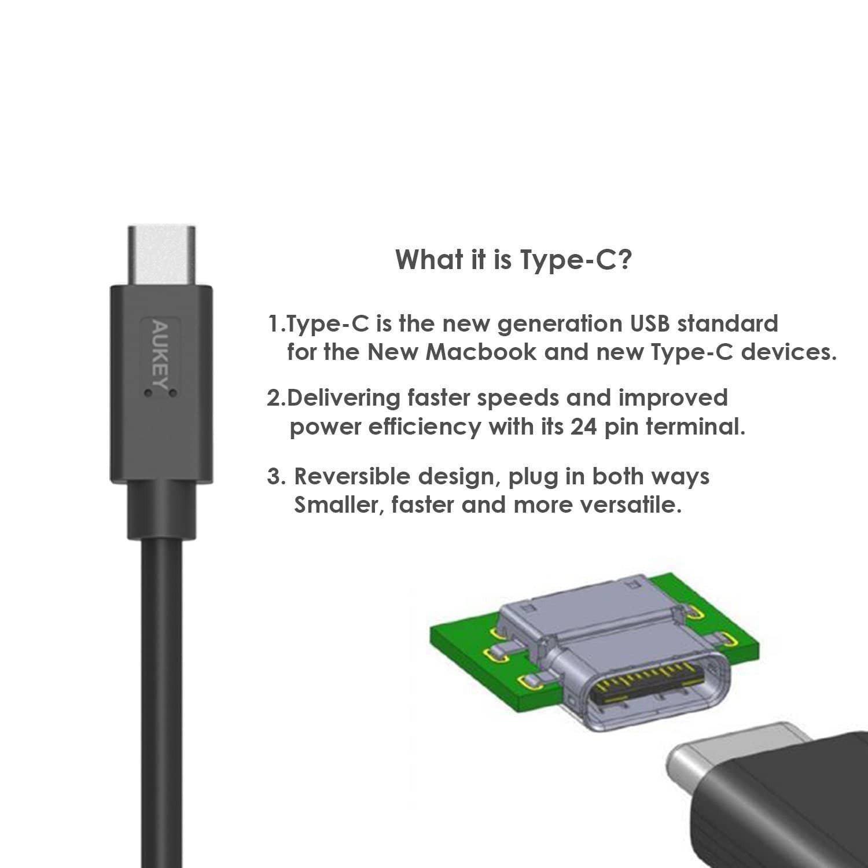 (แพ็ค3) Aukey สายชาร์จเร็ว (2 MicroUSB + 1 USB-C) CB-TD1