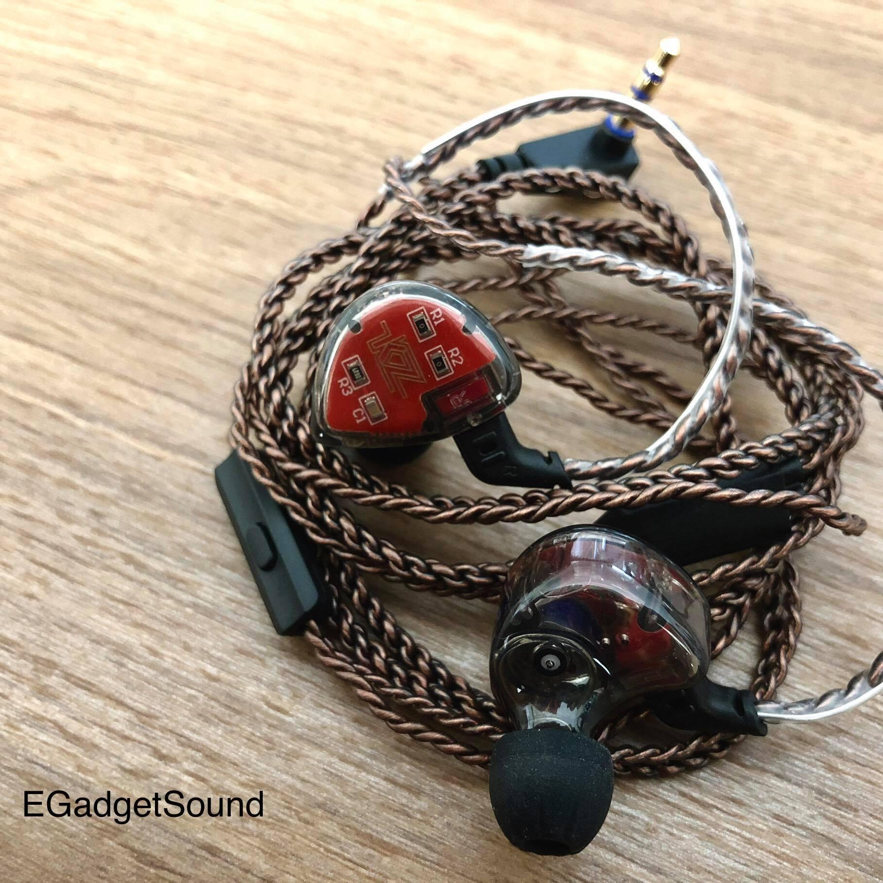 KZ หูฟังรุ่น ES4 สีดำ (มีไมค์) หูฟัง Hybrid 1BA+1DD ไดร์เวอร์ ถอดเปลี่ยนสายได้ ประกัน 6 เดือน