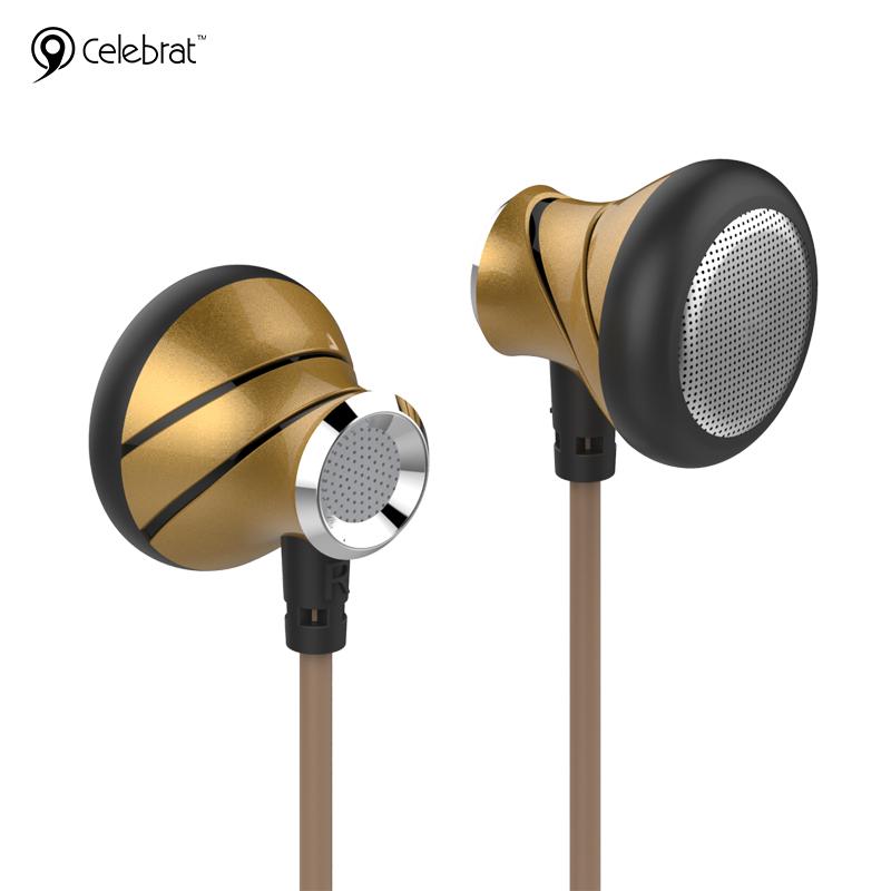 หูฟัง (มีไมค์) Super Bass Celebrat C7 หูฟังIEM แบบสอดหู สีทอง