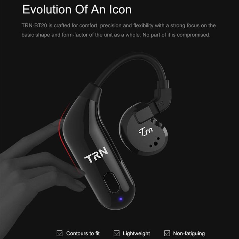สายอัพเกรดบลูทูธ 5.0 TRN BT20 (ทำหูฟังให้เป็น True Wireless TWS) ตัวต่อหูฟังไร้สาย สายอัพเกรดบลูทูธ KZ TFZ TRN (ุรุ่น 2PIN 0.78)
