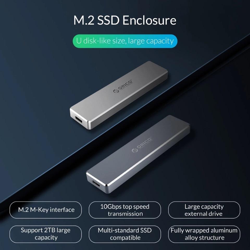 ORICO กล่องใส่ HDD M.2 NVMe (USB3.0 Gen2 10GBP) Harddisk Enclosure
