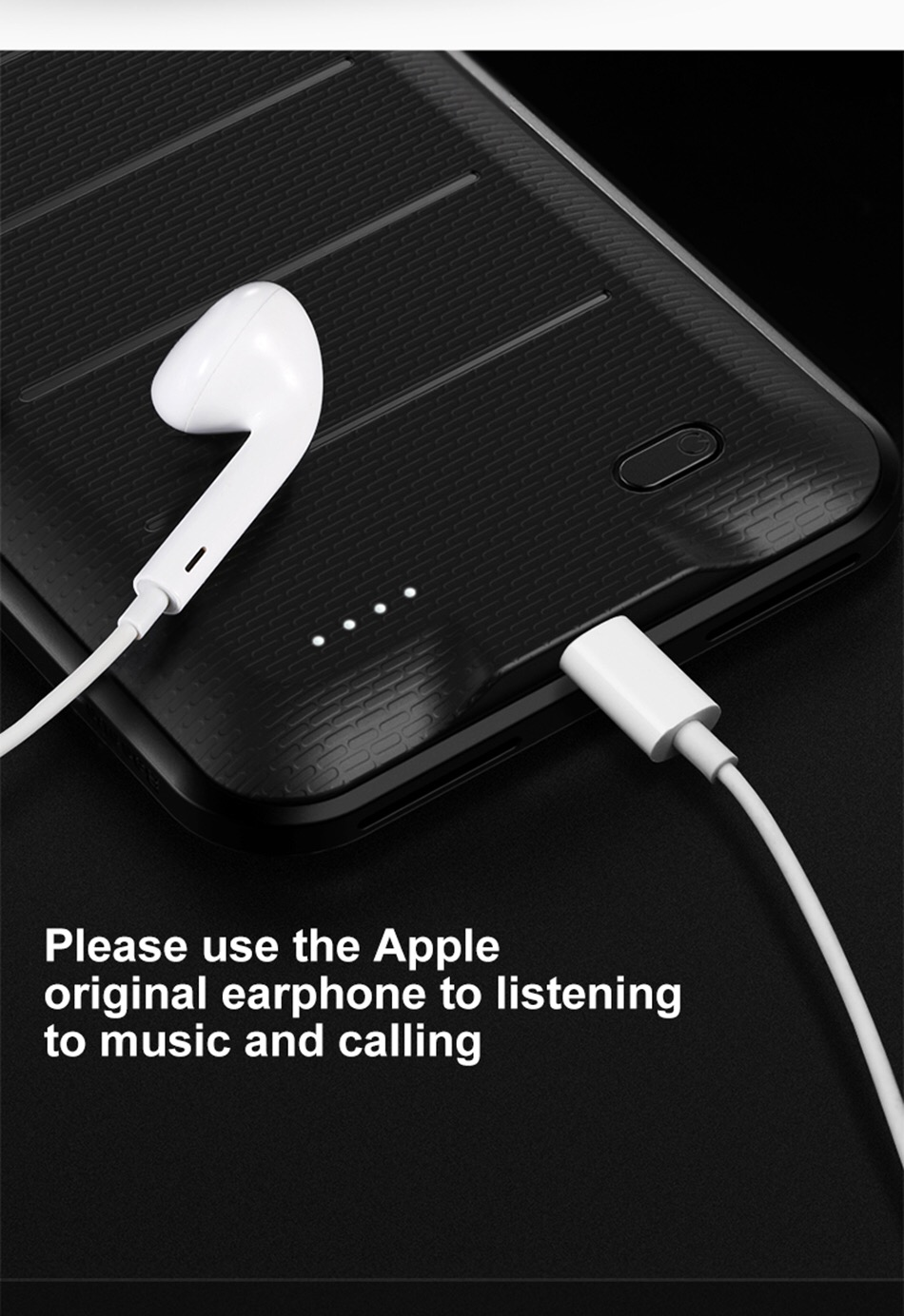 BASEUS เคสแบตสำรอง iPhone7Plus 5.5' ความจุสูง3650mAh แบบบางพิเศษ Ultrathin สีดำ