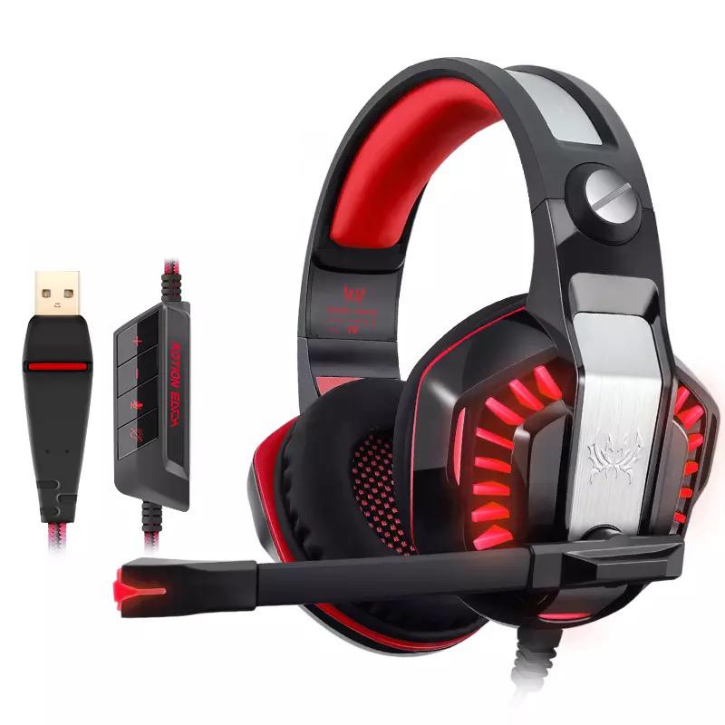 Kotion EACH หูฟังเกมมิ่ง USB 7.1 Channel (มีไมค์) รุ่น G2000 หูฟังKotioneach สำหรับเกมเมอร์ Esport เสียงsurround Virtual7.1 channel สำหรับใช้กับ PC (สีแดง)