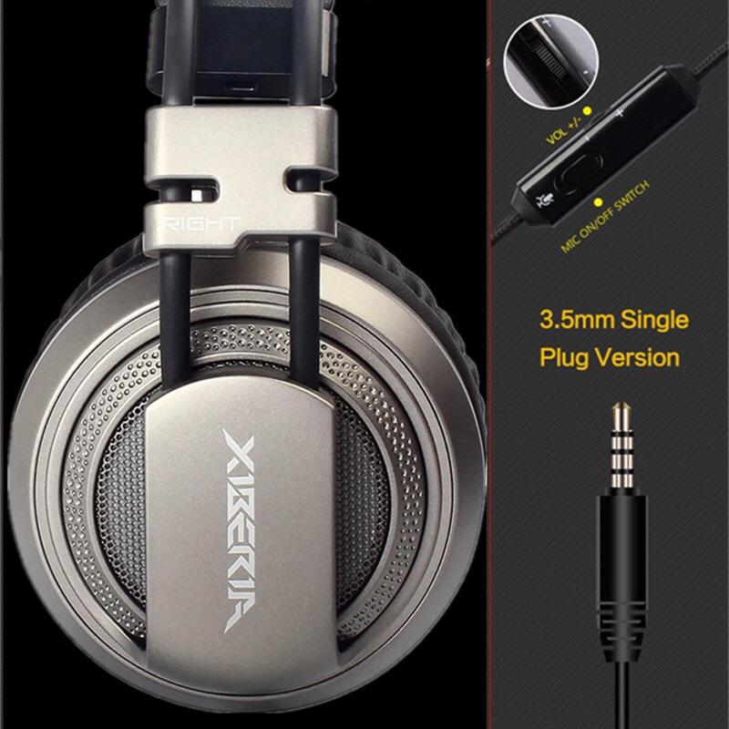 Xiberia หูฟังเกมมิ่ง สำหรับมือถือที่มี3.5mmช่องเดียว (มีไมค์) รุ่น V10 (สีดำ)