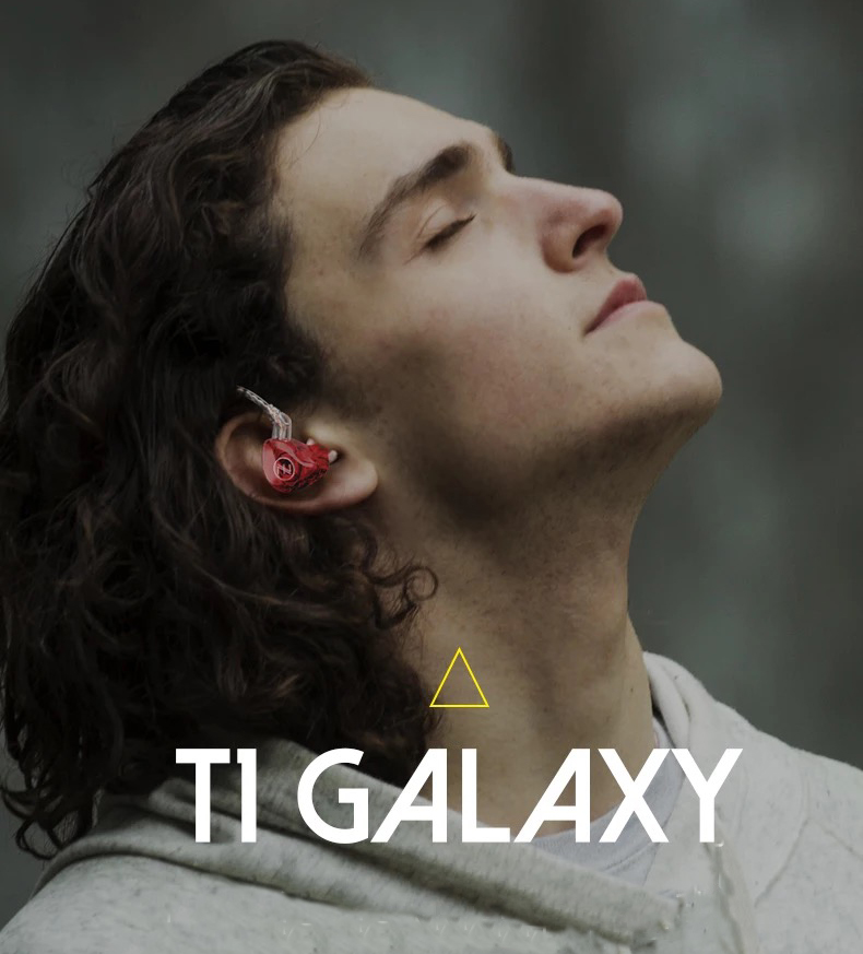 หูฟัง TFZ T1 GALAXY หูฟังแม่เหล็ก Neodynium + Dual Layer Titanium Dynamic Driverระดับ HiFi Stereo (สีน้ำเงินไม่มีไมค์ เเถมกล่องใส่หูฟังพรี่เมี่ยมสีดำ)