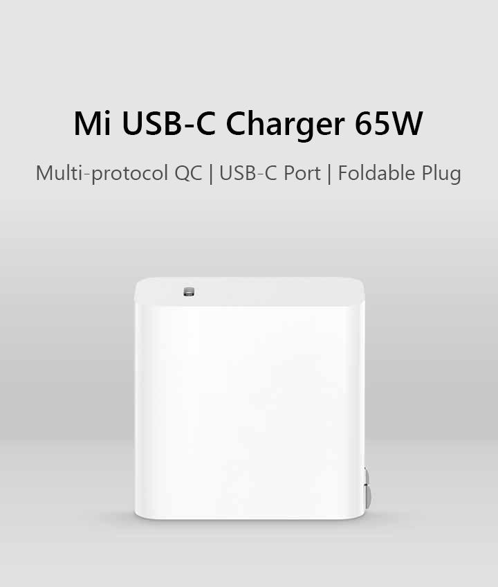 หัวชาร์จเร็ว PD 65W Xiaomi USB-C ชาร์จเร็ว MacBook Iphone8/8+/X Nintendo Switch ชาร์จเร็ว QC3.0