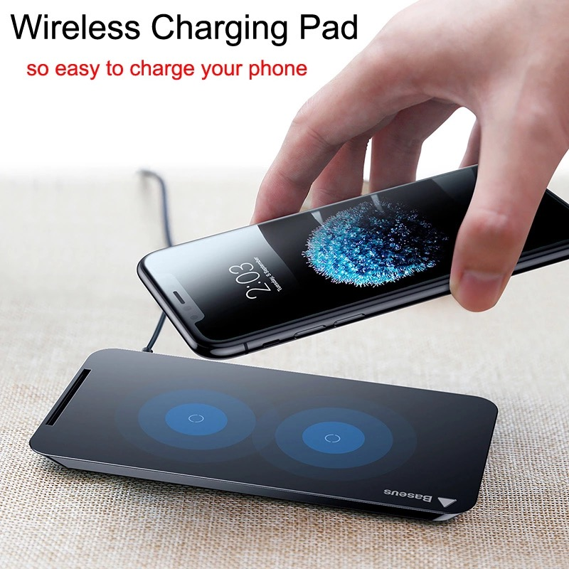 Baseus Qi Wireless Charger 5V/9V ที่ชาร์จไร้สาย Fast Wireless Charging Docking Dock Station