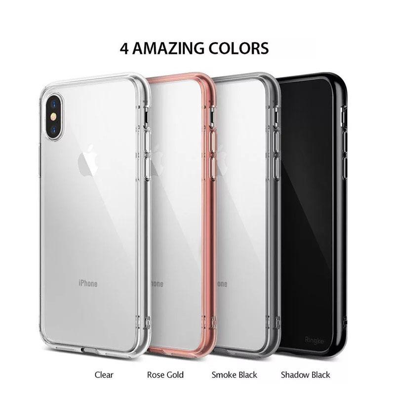 Ringke Fusion iPhone X เคสใสกันกระแทก ผ่านการทดสอบการกระแทกระดับ Military Grade ด้วยเทคโนโลยีกระจายแรงกระแทก (สี Shadow Black)