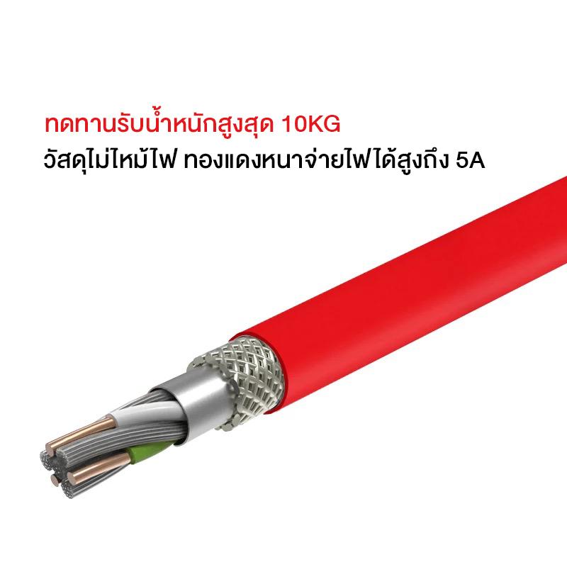 Baozu (100CM) SuperCable 3in1 รองรับการชาร์จเร็วเกือบทุกระบบ SuperCharge/VOOC/DASH/MTK PE+/FCP