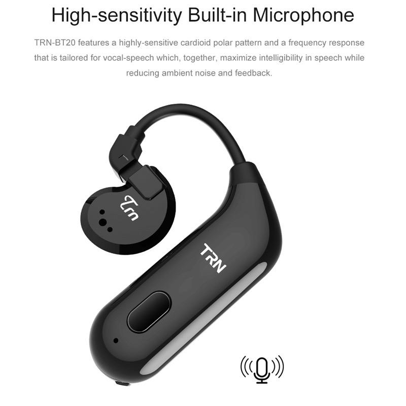 สายอัพเกรดบลูทูธ 5.0 TRN BT20 (ทำหูฟังให้เป็น True Wireless TWS) ตัวต่อหูฟังไร้สาย สายอัพเกรดบลูทูธ KZ TFZ TRN (ุรุ่น MMCX)