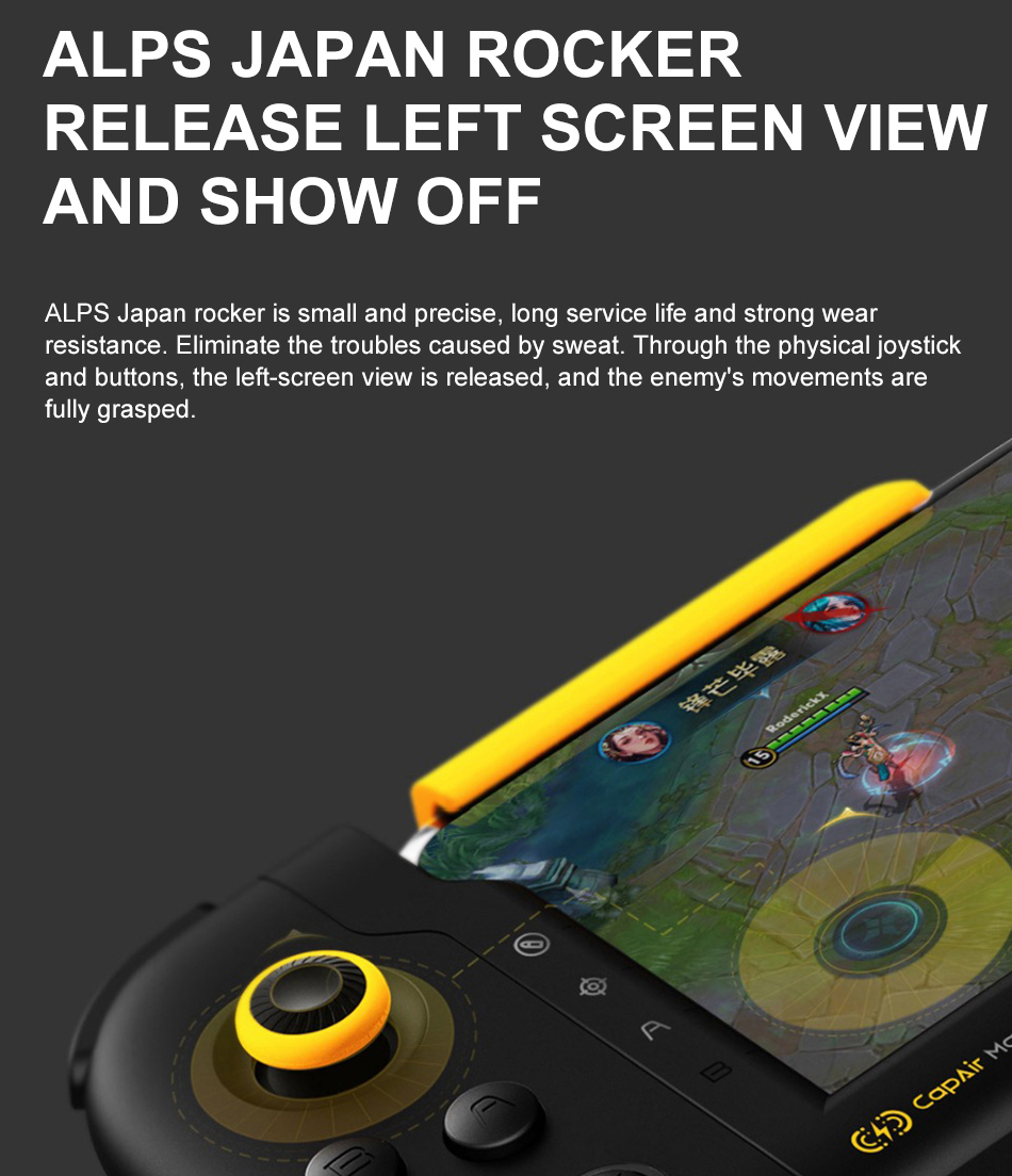 จอยเกมส์ iPhone 6ถึง8Plus Flydigi (Air Mapping) เล่น PUBG ROV ROS ไม่ต้องลง APP