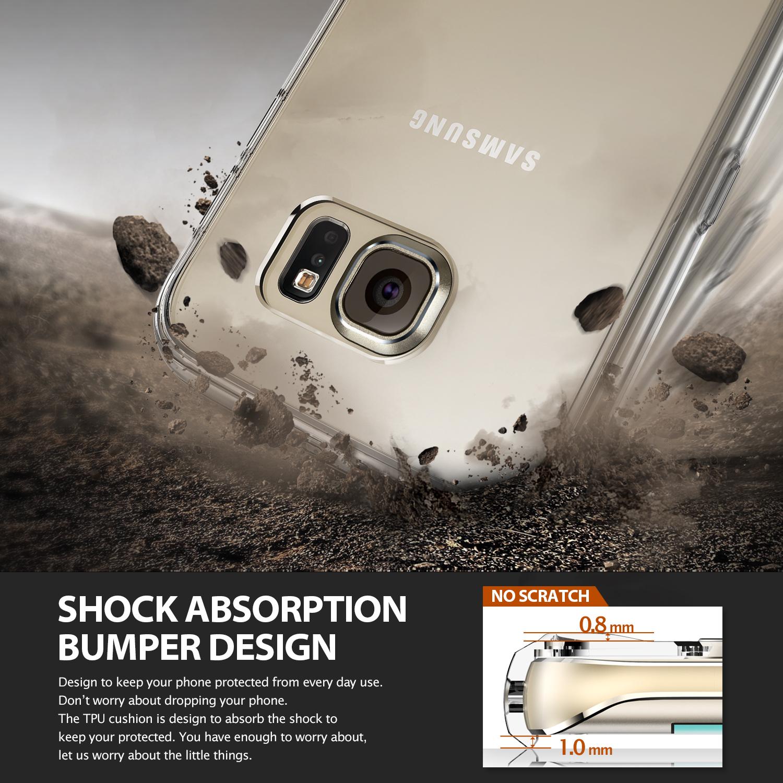 Ringke Fusion Samsung Galaxy S6Edge เคสใสกันกระแทก ผ่านการทดสอบการกระแทกระดับ Military Grade ด้วยเทคโนโลยีกระจายแรงกระแทก (Crytral Clear)