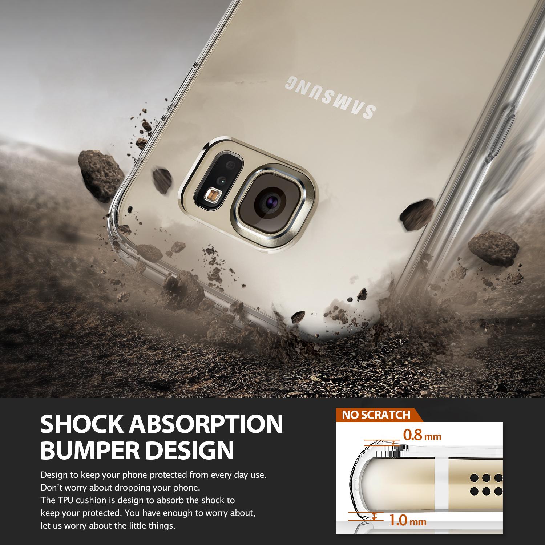 Ringke Fusion Samsung Galaxy S6 เคสใสกันกระแทก ผ่านการทดสอบการกระแทกระดับ Military Grade ด้วยเทคโนโลยีกระจายแรงกระแทก (Crytral Clear)