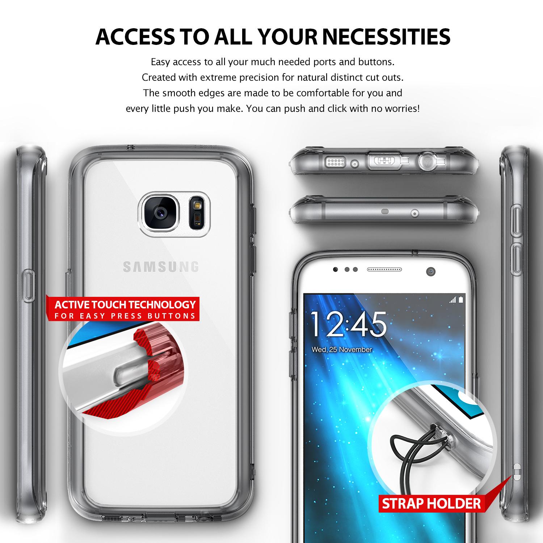 Ringke Fusion Samsung Galaxy S7 เคสใสกันกระแทก ผ่านการทดสอบการกระแทกระดับ Military Grade ด้วยเทคโนโลยีกระจายแรงกระแทก (Crytral Clear)