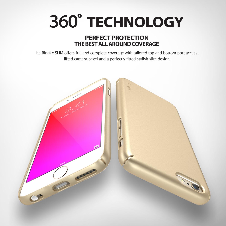 Ringke Slim iPhone6SPlus 5.5' เคสกันกระแทกที่บางที่สุดจากRingke ผ่านการทดสอบการกระแทกระดับ Military Grade ด้วยเทคโนโลยีกระจายแรงกระแทก (ดำ)