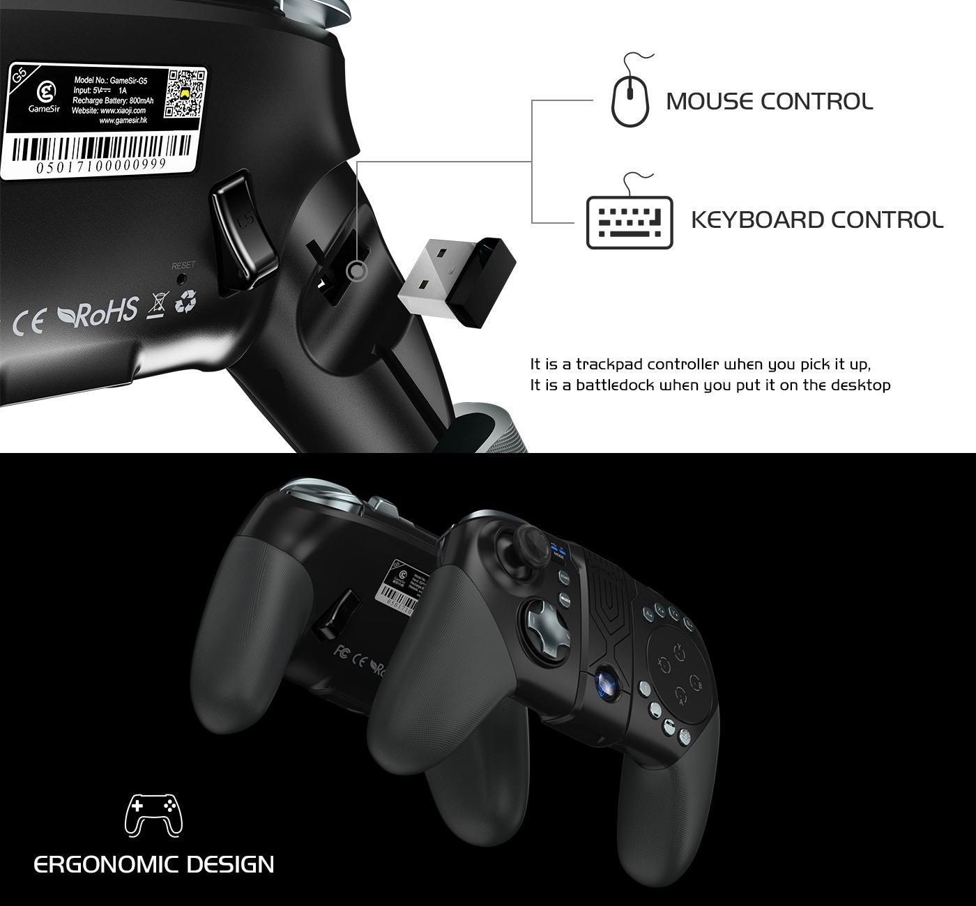 จอยเกมมือถือ Gamesir G5 iOS/Andriod Bluetooth 5.0 สำหรับมือถือ 4-6 นิ้ว จอยเกมส์บลูทธู เกมส์คอนโทรลเลอร์บลูทูธไร้สาย